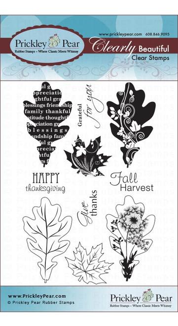 Oak & Maple Leaf - Clear Stamp Set