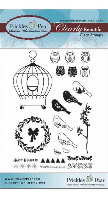 Birdcage Winter 2 - Clear Stamp Set