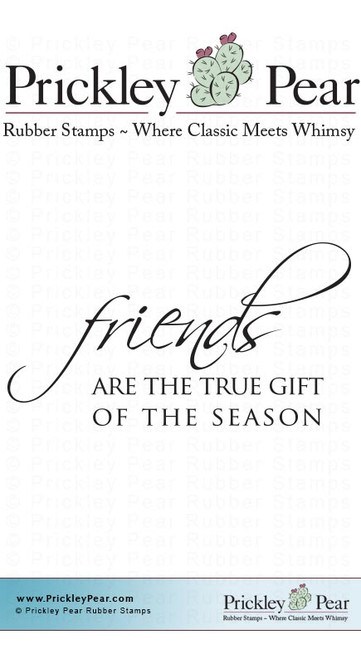 Gift of the Season - Red Rubber Stamp