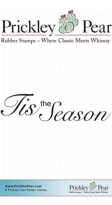 Tis the Season - Red Rubber Stamp