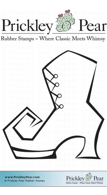 Witches Boot, Small - Red Rubber Stamp