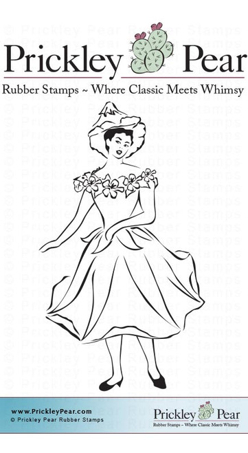 Flower Fairy - Red Rubber Stamp