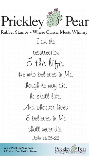 Resurrection Life - Red Rubber Stamp