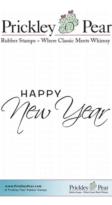 Happy New Year - Red Rubber Stamp