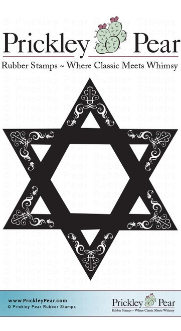 Star of David - Red Rubber Stamp