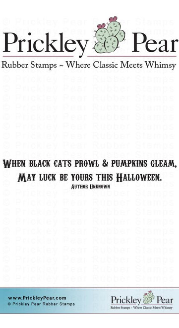 Black Cats Prowl - Red Rubber Stamp