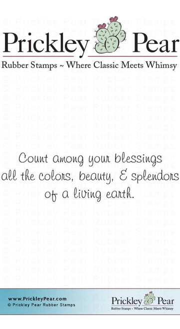 Count Among Your Blessings - Red Rubber Stamp