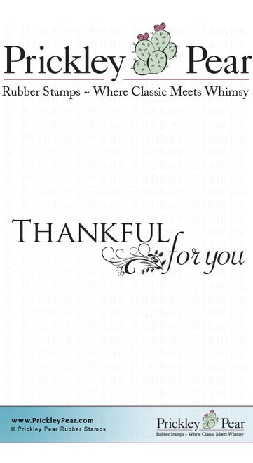 Thankful for You - Red Rubber Stamp