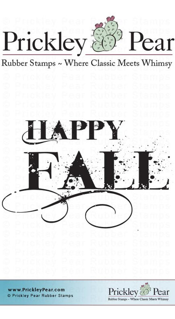 Happy Fall - Red Rubber Stamp