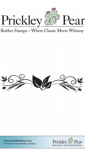 Fall Aspen Flourish - Red Rubber Stamp
