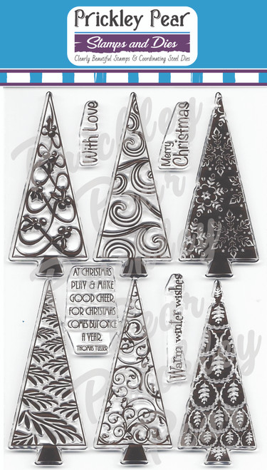CLR009A Christmas Trees 2 Clear Stamp Set