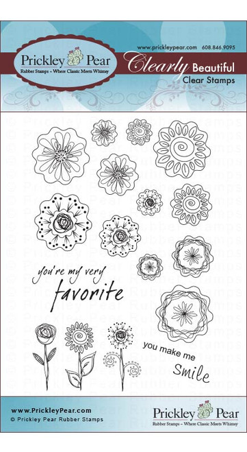 Blobby Flowers 2 - Clear Stamp Set