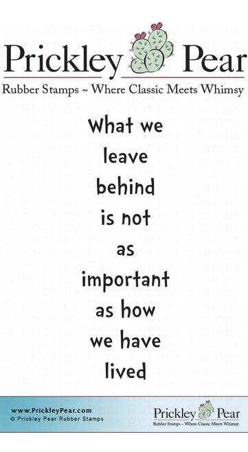 What We Leave - Red Rubber Stamp