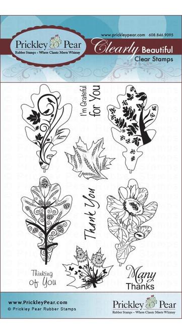 Oak & Maple Leaf 2 - Clear Stamp Set