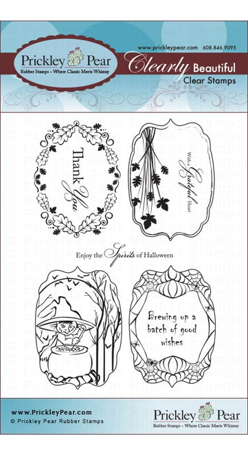 Flourished Ovals 2 Fall - Clear Stamp Set