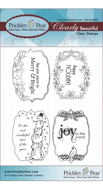 Flourished Oval 3 Holidays - Clear Stamp Set