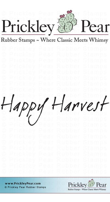Happy Harvest - Red Rubber Stamp