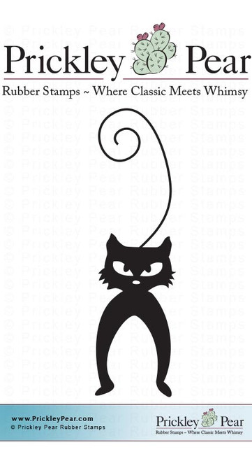 Arched Cat - Red Rubber Stamp