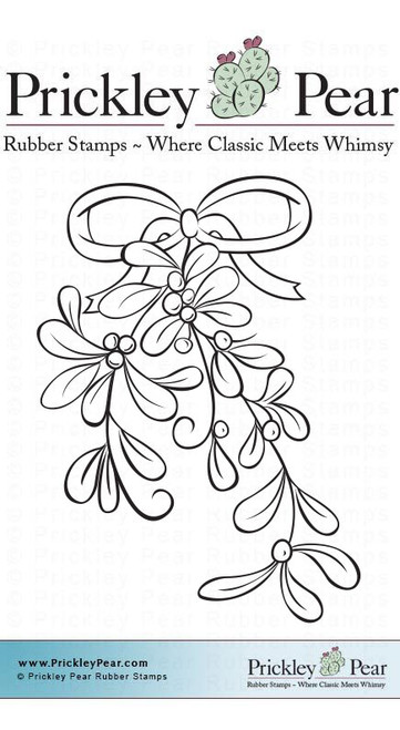 Mistletoe, Small - Red Rubber Stamp