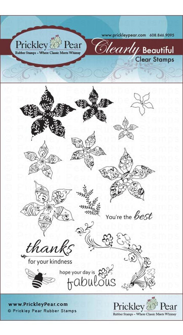 Spring Poinsettias - Clear Stamp Set