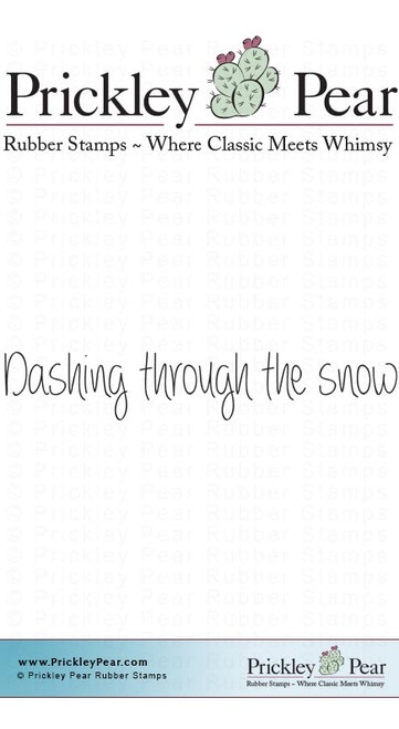 Dashing Through the Snow - Red Rubber Stamp