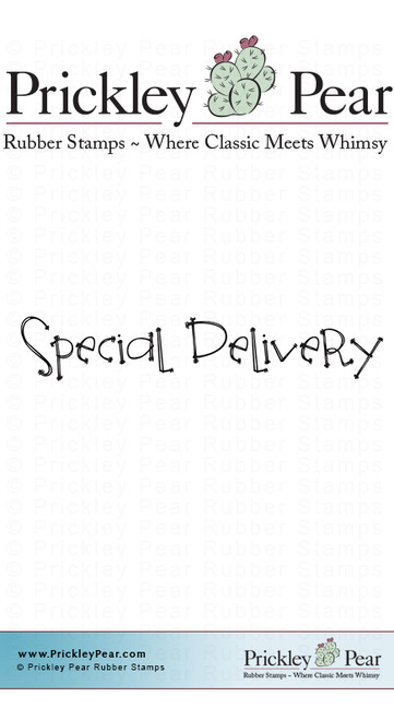 Special Delivery - Red Rubber Stamp