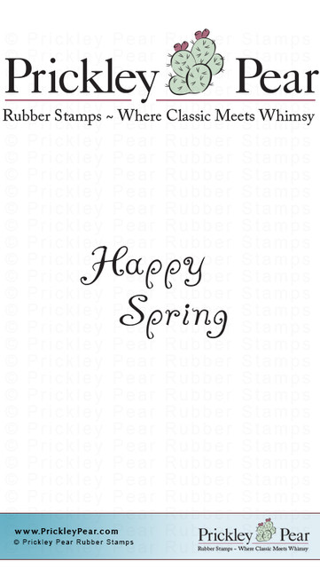 Happy Spring 2 - Red Rubber Stamp