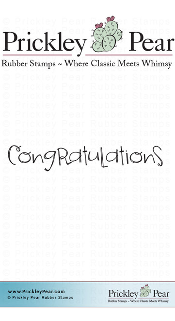 Congratulations 2 - Red Rubber Stamp