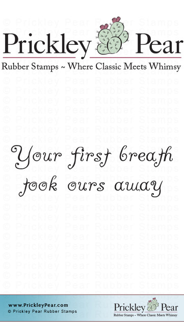 Your First Breath - Red Rubber Stamp