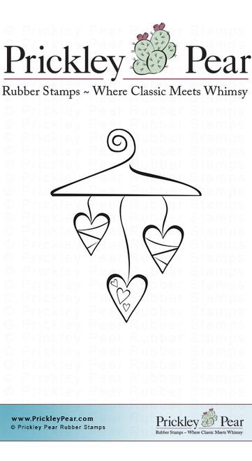 Love Hanger - Red Rubber Stamp