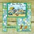Fun Fold Card made by Leslie Turner with CLR219 Play Day on the Beach clear stamp set