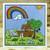 Card made by Leslie Turner using CLR226 Noah's Ark Clear Stamp Set