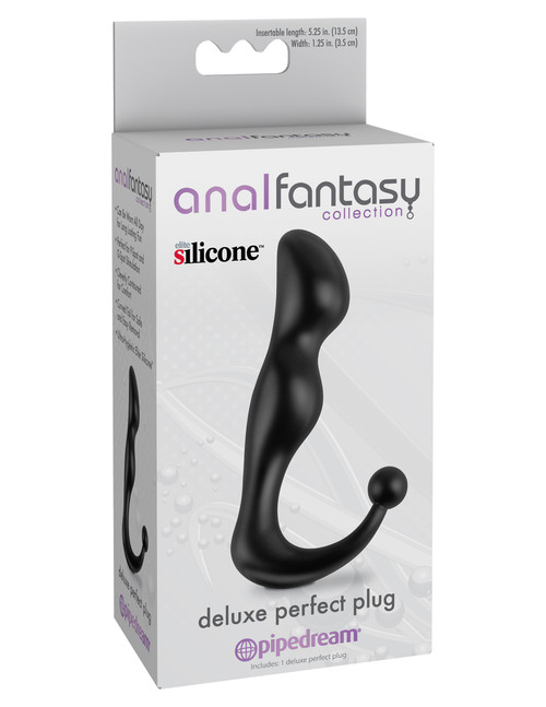 PD4621-23 ANAL FANT.COLL. DELUXE PERFECT PLUG-BLK