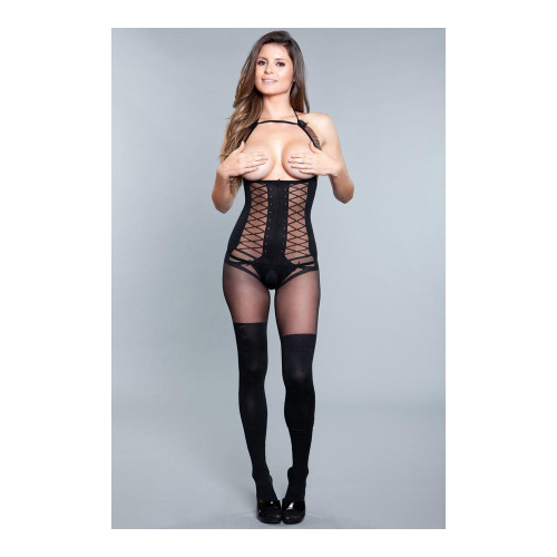 BWICK-1907BLK O/S GOOD AT BEING BAD BODYSTOCKING