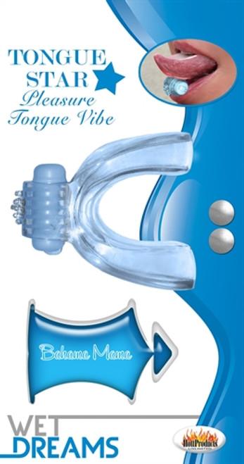 HTP2971 TONGUE STAR VIBE BLUE W/10ML LIQOUR