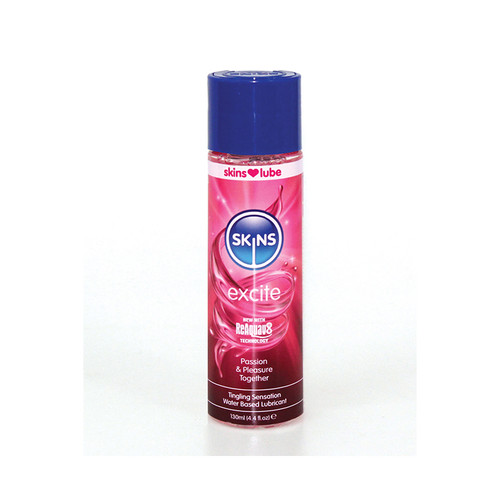 SKINS-EXCITE TINGLING WATER BASED LUBE 4.4OZ