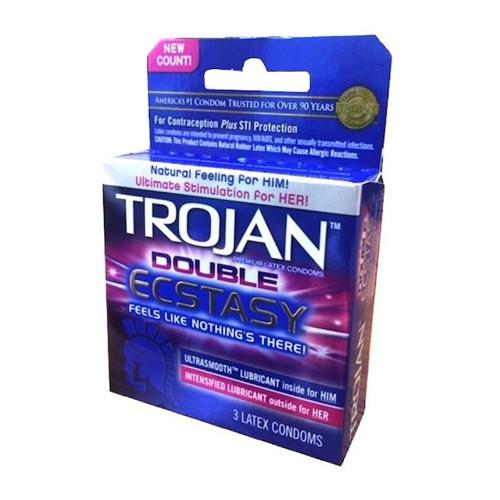 TJ01961 TROJAN DOUBLE ECSTASY -3PK