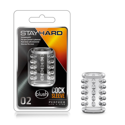 BL-00202 STAY HARD COCK SLEEVE 02 -CLEAR