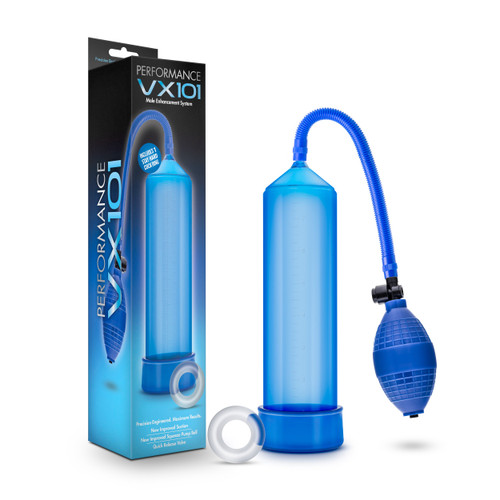 BL-01102 PERFORMANCE -VX101 MALE ENHANCEMENT PUMP-BLUE