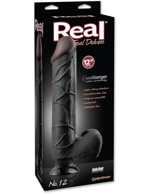 """PD1522-23 REAL FEEL DELUXE #12 12"""" -BLK"""