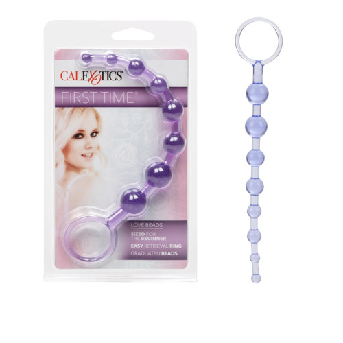 SE0004-32 FIRST TIME LOVE BEADS -PURPLE*