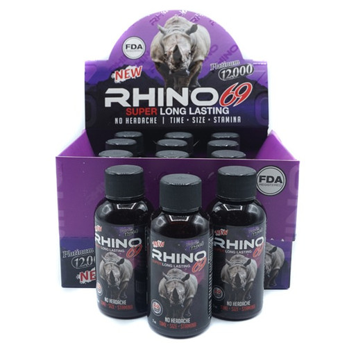 RHINO-69 PLATINUM 12,000 LIQUID-2OZ