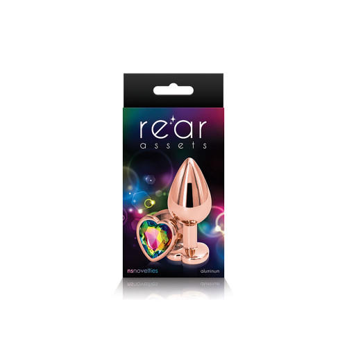 NSN0963-29 REAR ASSETS-ROSE GOLD HEART-MD-RAINBOW