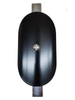 """Hand Hole Cover - 3""""x5"""" Curved Oval Steel - 4"""" Diameter Pole - Black"""
