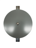 """5""""x5"""" Flat Round Grey Steel Hand Hole Cover"""