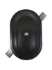 """3.5""""x5.5"""" Stamped Oval Black Steel Hand Hole Cover"""