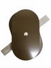 "3""x5.5"" Flat Oval Dark Bronze Steel Hand Hole Cover"