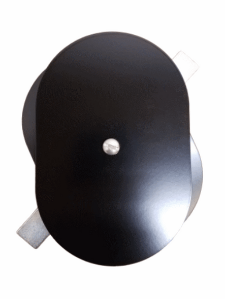 """4""""x6"""" Flat Oval Black Steel Hand Hole Cover"""