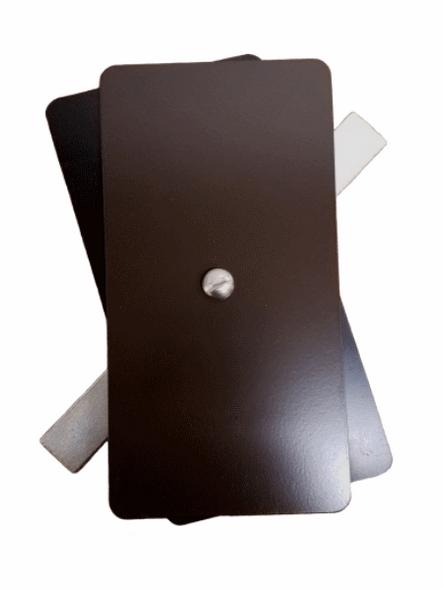 "3.25""x6.25"" Flat Rectangular Dark Bronze Steel Hand Hole Cover"