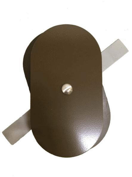 "3""x5.5"" Flat Oval Dark Bronze Aluminum Hand Hole Cover"